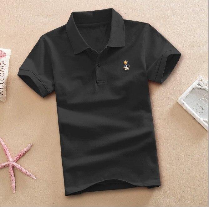 2018 Hot kids boy summer short sleeve polo shirt children school teen boy 2 6 8 10 12 embroidery kids boy tee t shirt clothing
