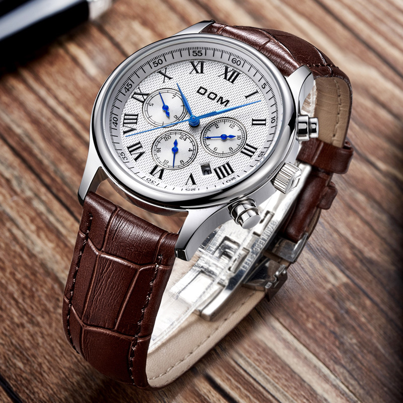 DOM men watches top brand luxury watch waterproof mechanical leather Business reloj hombre marca de lujo M-56L-7M men business watches top brand luxury watch waterproof mechanical watch leather watch reloj hombre marca relogio masculino