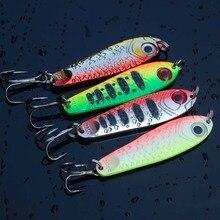 1 sztuk wysokiej jakości metalu Jigging łyżka 21g 65mm Isca sztuczne Pesca przynęta błystka przynęta na łyżkę Super twarde ołowiu ryby przynęty
