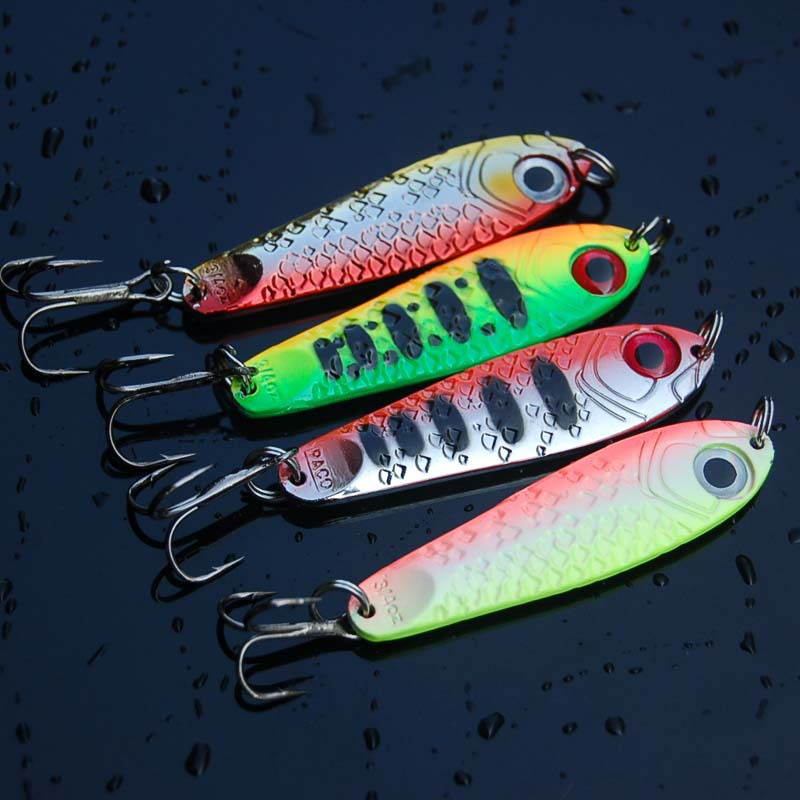 1Pcs High Quality Metal Jigging Spoon 21g 65mm Isca Artificial Pesca Bait Jig Spoon Lures Super Hard Lead Fish Fishing Lure-in Fishing Lures from Sports & Entertainment