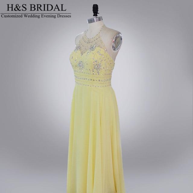 Robe longue jaune h&m