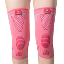 Kuangmi 1 Pair Volleyball Basketball Sports Knee Support Braces Elastic Nylon Compression Knee Pad Protector Guard for Women Men