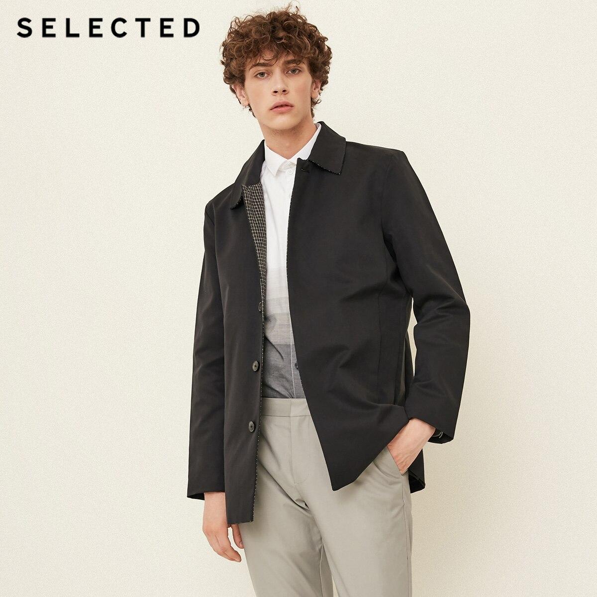 SELECTED New Men's Cotton Lapel Windbreaker Coat Stylish Business Casual Jacket Outwear T | 4183OM507