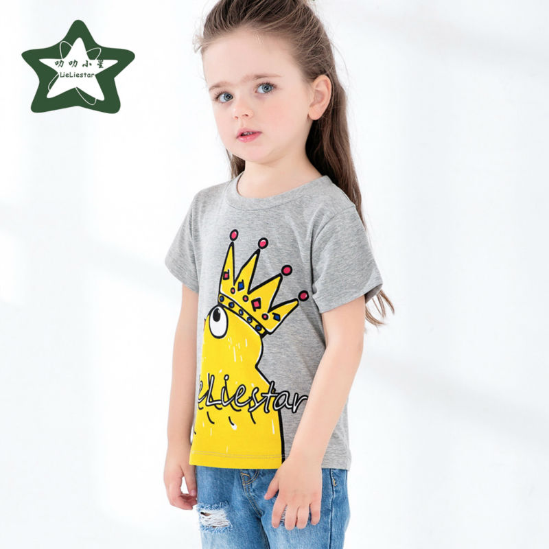 Fashion Imperial Crown Small Cock T Shirts Baby Girls Cute Pattern Clothing Kids -3929