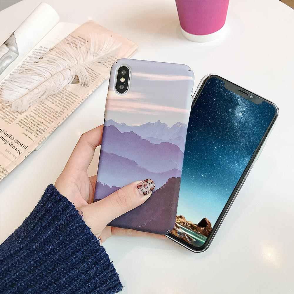 KISSCASE Phong Cảnh Gỗ Thông Họa Tiết Cứng Nhám Giành Cho Samsung Galaxy S10 Plus S10e S10 S9 Plus S9 Dành Cho Samsung S8 plus S8 Note 9