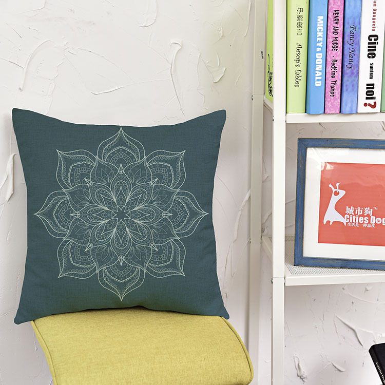 wholesale wedding gift Islamic Muslim Mandala Flower Halal Religious Belief decorative cushion cover home car sofa pillow case