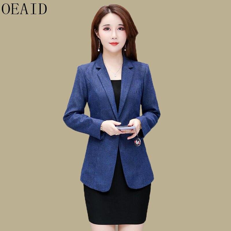Long Sleeve Blazers Women Clothing New 2019 Fashion Blazer Women Suit Short Slim Spring And Autumn Female Suits Coats Black(China)