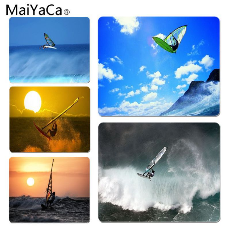 MaiYaCa Windsurfing Large Lockedge Mouse pad PC Computer mat Size for 25x29x0.2cm Gaming Mousepads