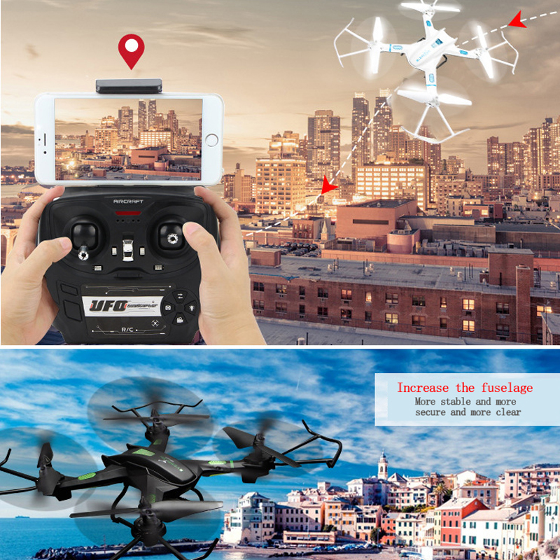 Mini Drone Headless Mode 6 Axis Gyro 2.4GHz 4CH dron 360 Degree Rollover One Key Return RC Helicopter drones with camera hd jjrc h12c 6 axis headless mode 2 4g 4ch rc quadcopter 360 degree rollover ufo helicopter professional drone dron 5 0mp hd camera