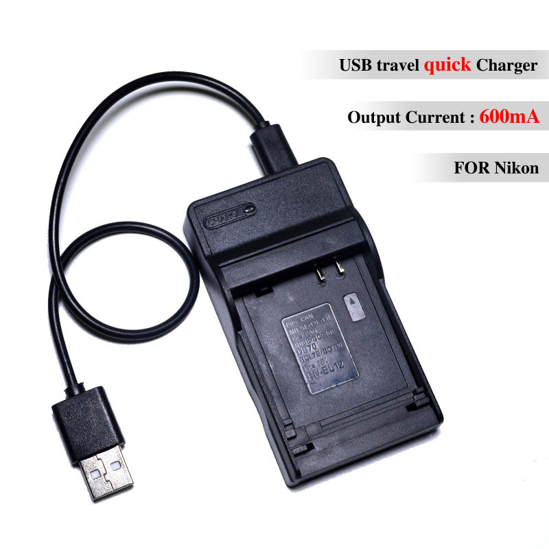 CONENSET EN EL12 USB Battery Charger for Nikon EN EL12 Coolpix P310 P330 P340 S1200pjv S1000pj