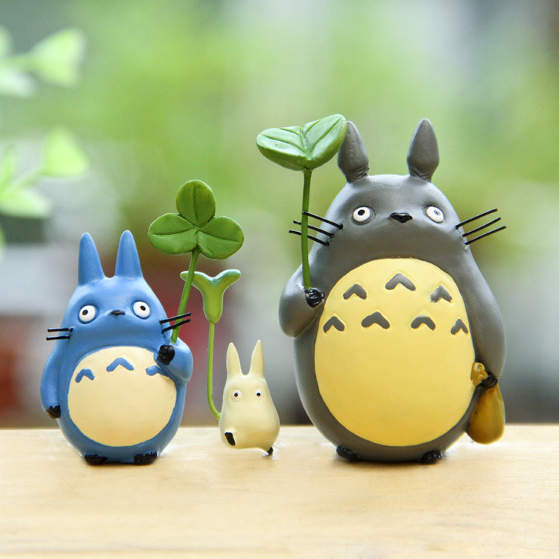 Resin Hayao Miyazaki's Totoro Model Figurines Fairy Flower Pot Ornament Miniatures Moss Gnome Decoration Crafts Gifts Home