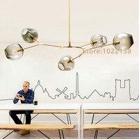 Линдси adelman Глобусы ветвления пузырь люстра 110 В 220 В современная люстра Освещение