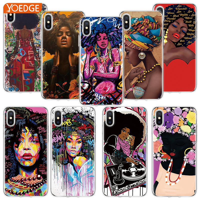 Clothing, Shoes & Accessories Queen Afro Melanin Poppin Shining Colorful Cute Tpu Cases Cover For Apple Iphone 4 4s 5 5c 5s Se 6 6s 7 8 Plus X Xs Max Xr