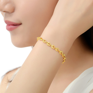 Image 2 - YSF 24K Pure Gold Bracelet Real 999 Solid Gold Bangle Upscale Beautiful  Romantic Trendy Classic Jewelry Hot Sell New 2020