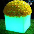 Светодиодный светящийся мигающий 16 цветов Изменение заряда батареи Водонепроницаемый ip68 RGB цветочный горшок с подсветкой для дома сада ...