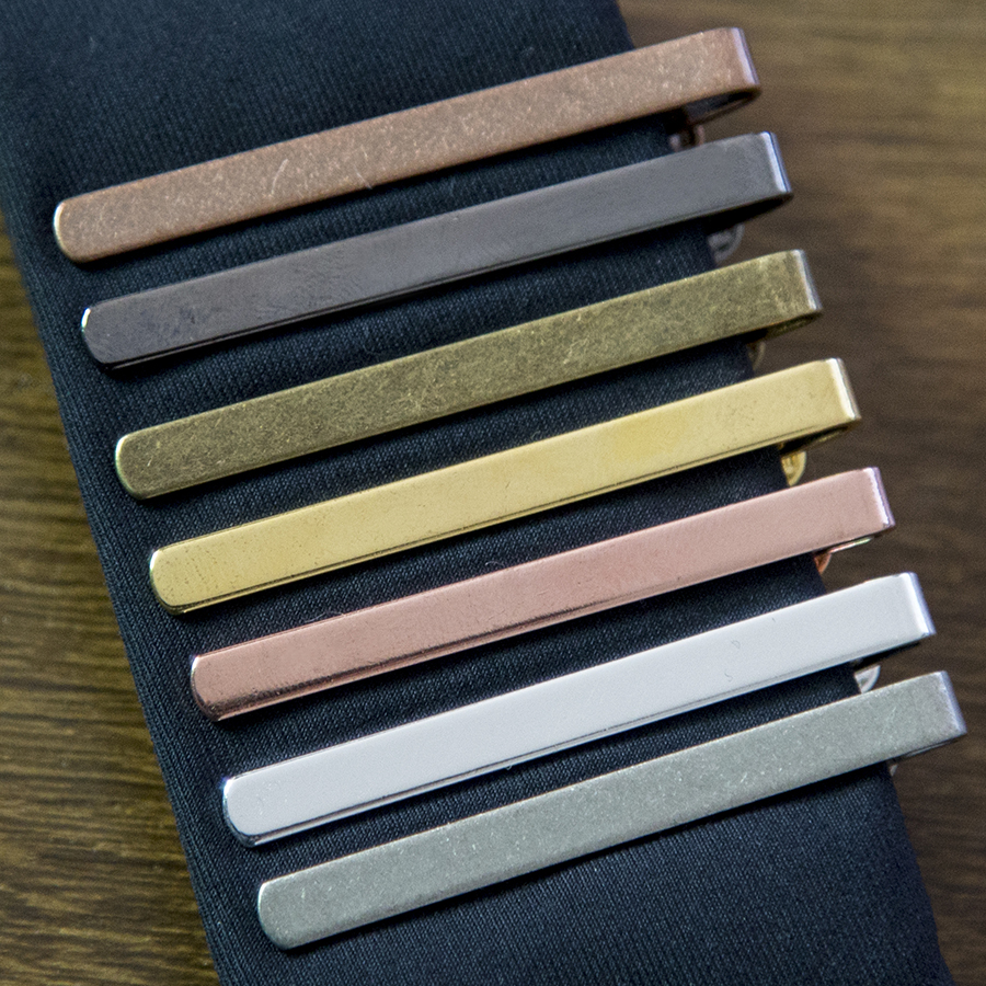 New Simple Fashion Style Tie Clip For Men Metal Silver Gold Tone Simple Bar Clasp Practical Necktie Clasp Tie Pin For Mens Gift