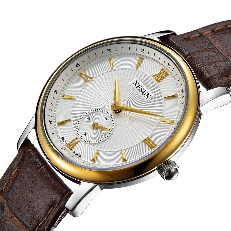 Nesun Switzerland Luxury Brand Watch Women Japan MIYOTA Quartz Movement Women's Watches Genuine Leather Couple's Clock N8501-LW3