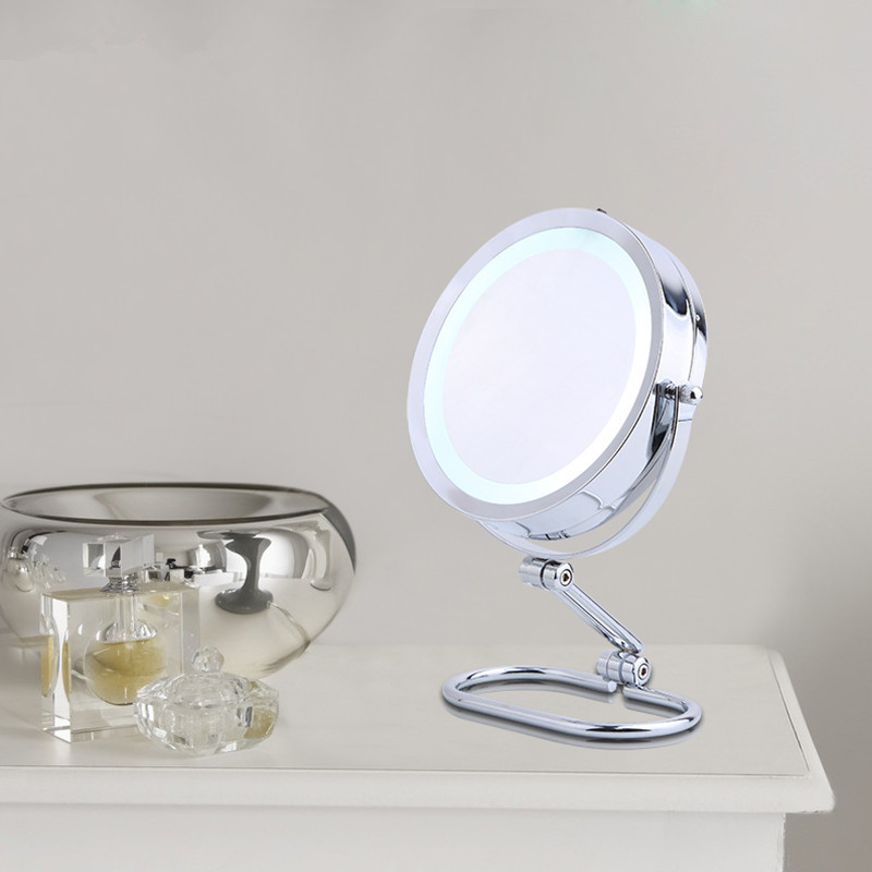 Pasqyrë kozmetike me tryezë SpringQuan 7 inç 2-pasqyrë metalike - Mjet për kujdesin e lëkurës - Foto 3