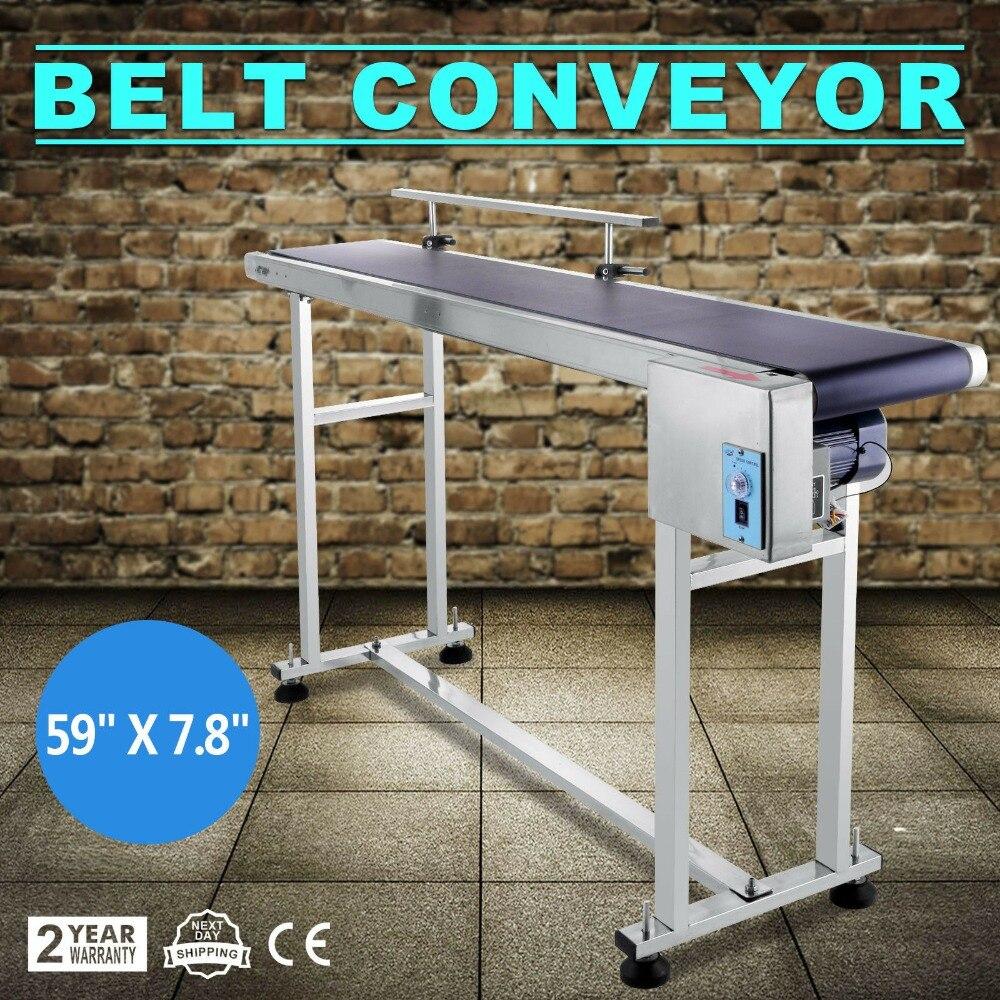 Belt Conveyor Machine 220V/60HZ  Stainless Steel Adjustable Automatic Speed  Belt Conveyor PVC