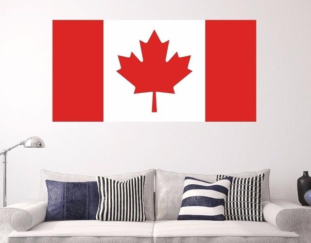 Wandtattoo Kanada Nationalflagge Vinyl Aufkleber Abnehmbare Haus Wohnzimmer  Dekoration Zubehör Fenster Poster Dekor WW 151