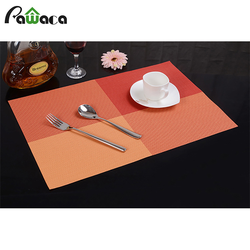 4 Pcs/Set PVC Dining Table Mat Waterproof Non-Slip Placemats Disc Pads Bowl Pad Coasters Table Cloth Pad Kitchen Accessories