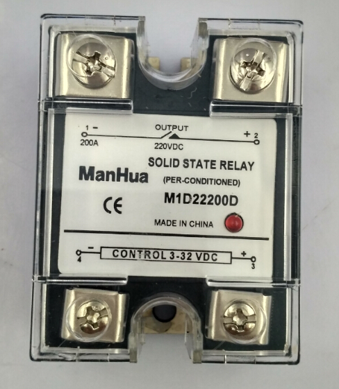 цена на MANHUA Single Phase DC To DC 3-32VDC To 220VDC 200A Black Solid State Relay/SSR Relay With CE