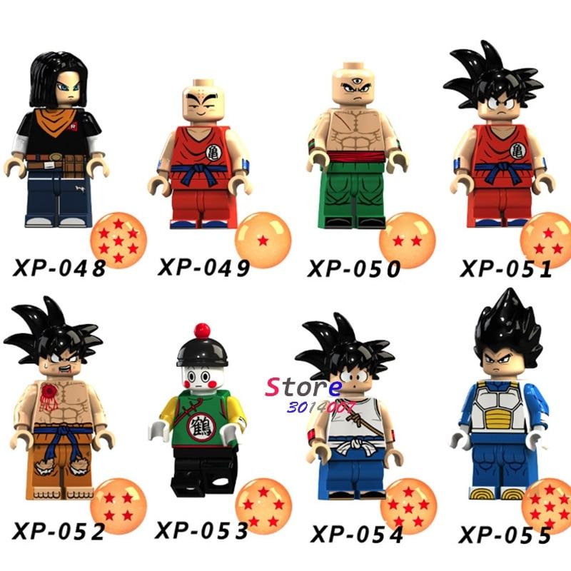 Single Building Blocks Dragon Ball Z  Violett Krillin Tien Shinhan Goku Chiaotzu Vegeta Collection Toys For Children