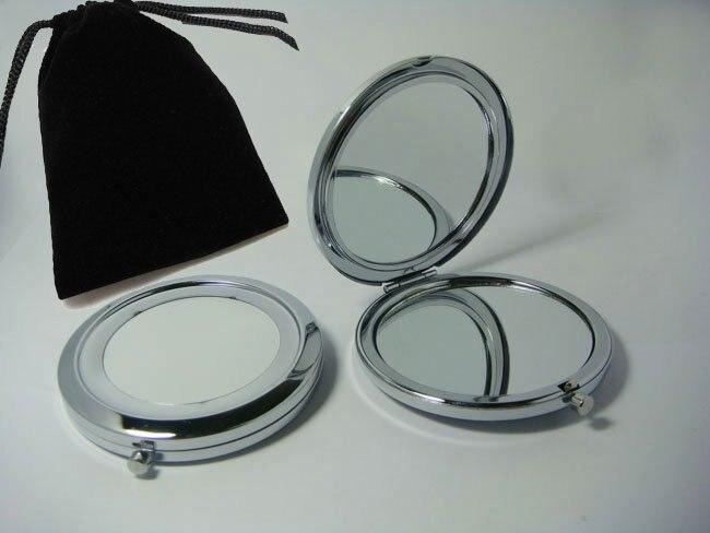 Schönheit & Gesundheit Clever 2 Stücke Taschenspiegel Diy Metall Mini Kosmetische Tragbare Silber überzug Spiegel Mit Samtbeutel Frei Kostenloser Versand Reich Und PräChtig