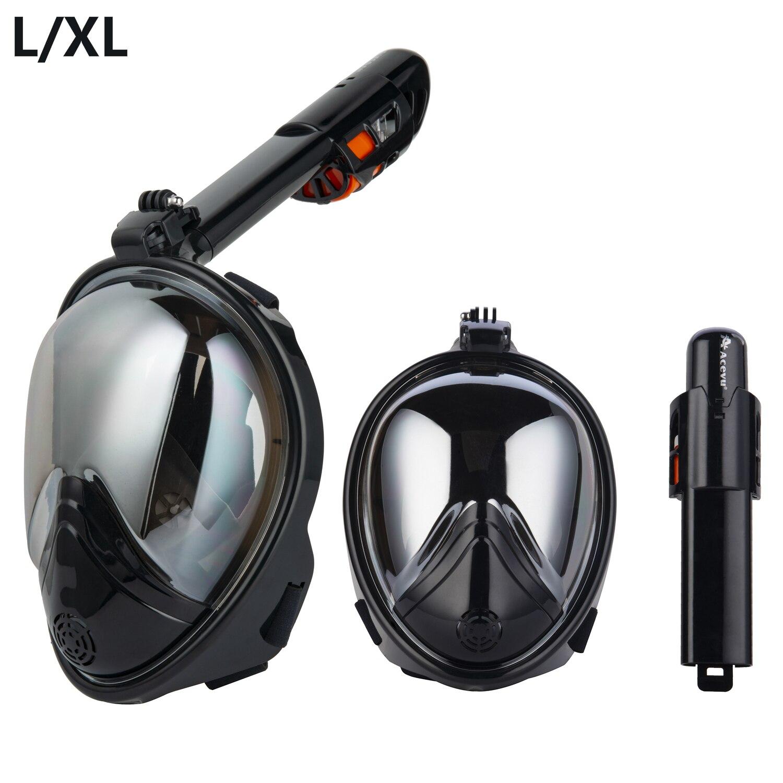 2018 Sous-Marine Plongée Anti Brouillard Plein Visage masque de plongée ensemble de plongée masques respiratoires Sûr et étanche Équipement De Natation