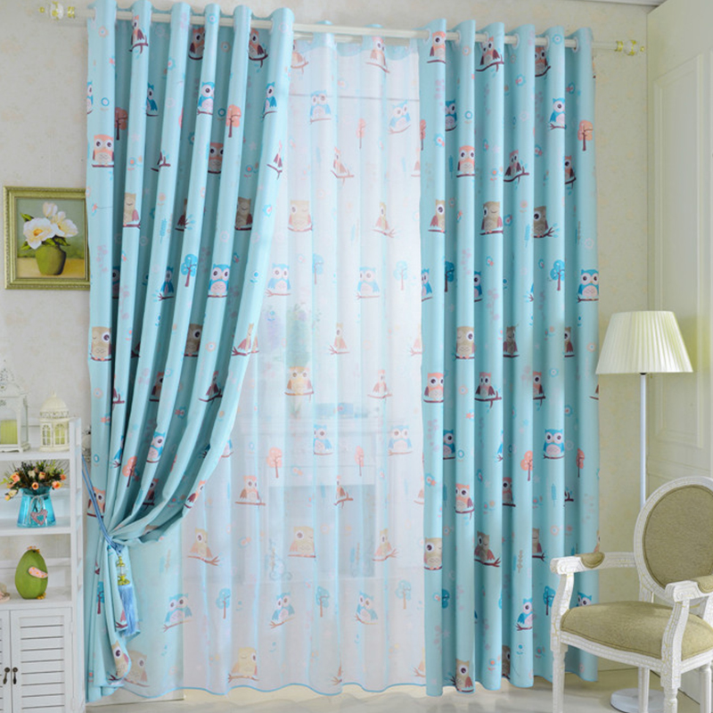 2015 cartoon owl shade blinds finished window blackout curtains ...