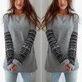 ! Модная женская Fshion Шею Длинным Рукавом Пуловер Перемычка Свободные Трикотаж Топы