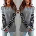 !    Fashionable Women's Fshion Round Neck Long Sleeve Pullover Jumper Loose Knitwear Tops