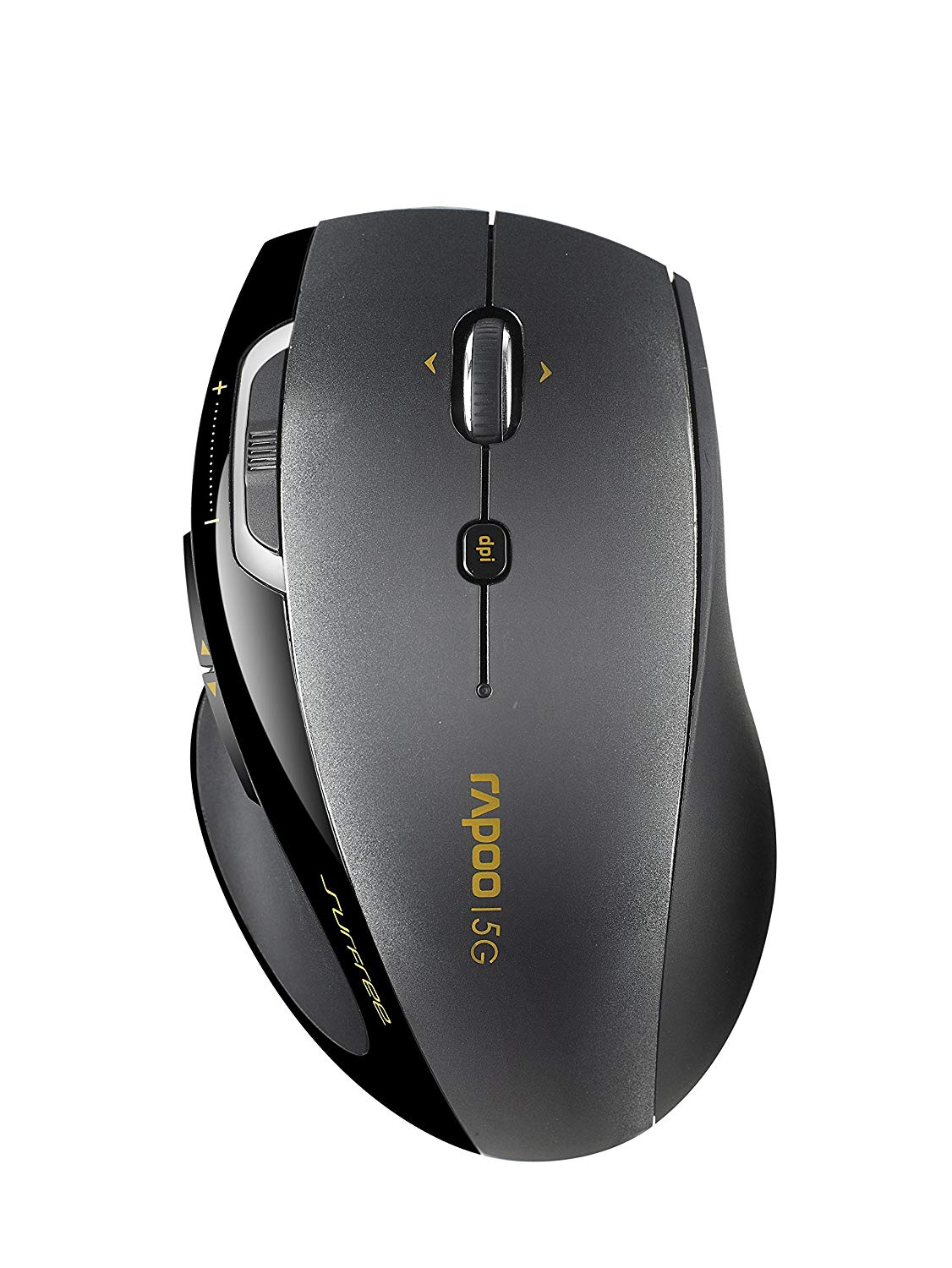 Original Rapoo 7800P 5.8Ghz 9 Buttons Black Optical Wireless Mouse Computer Mice Free shipping genuine rapoo 1090 2 4ghz wireless 1000dpi usb optical mouse w receiver black 1 x aa