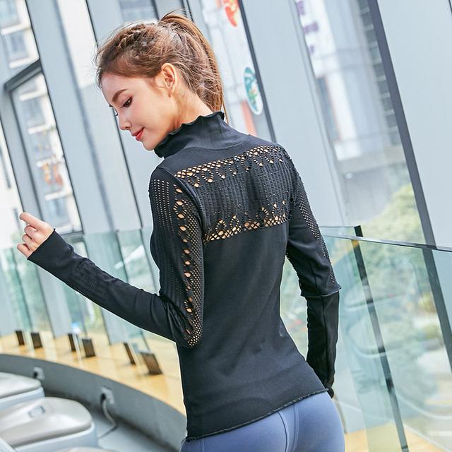 Mesh Gym Seamless Long Sleeve Sport Top