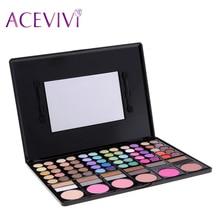 ACEVIVI Women Cosmetics Professional 78 Colors Natural Eyeshadow Palette Makeup Eye Shadow Kit Eye Beauty Makeup Set Hot