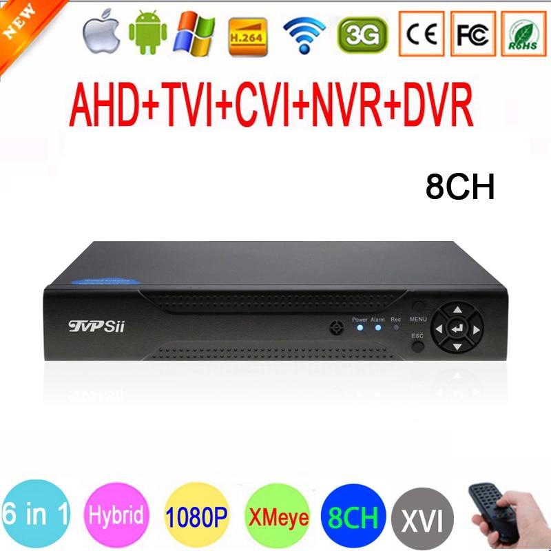 1080P 960P 720P 960H CCTV Camera 1080N 8 Channel 8CH Hybrid 6 in 1 WIFI XVI