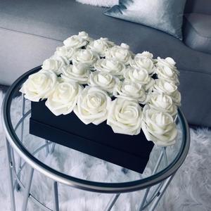 Bouquet Rose-Flowers Wedding-Decorations Bride Artificial Pe-Foam Scrapbooking 10/20-Heads