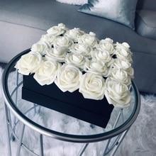 Sale 10/20 Heads 8CM New Artificial PE Foam Rose Flowers Bride Bouquet Home Flower Wedding Decorations Scrapbooking DIY flower