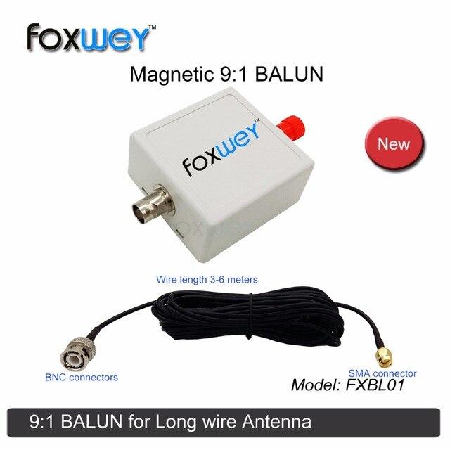 마그네틱 91 hf 발룬 음료 안테나 용 긴 와이어 안테나 rtl sdr 소프트웨어 라디오 수신기 (소프트웨어 정의 라디오) foxwey