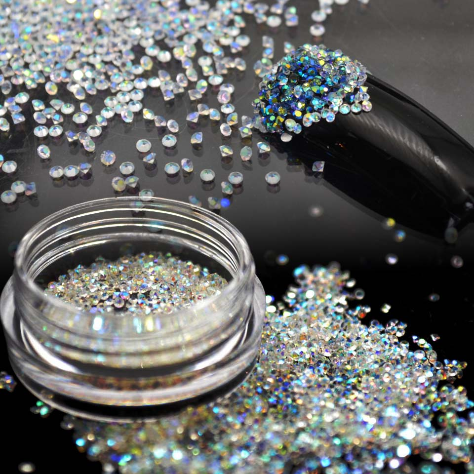 1.1mm Crystal Pixie Glass Micro Rhinestones for Nails Designs