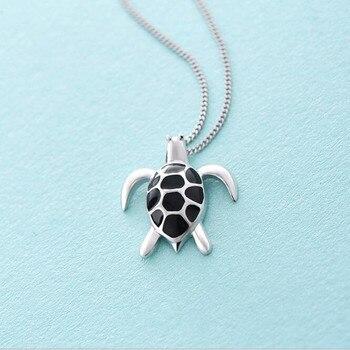 ¡Nuevo producto! Colgante de cadena para clavícula colgante de plata de ley 925 creativo y Popular para mujer con forma de tortuga H314