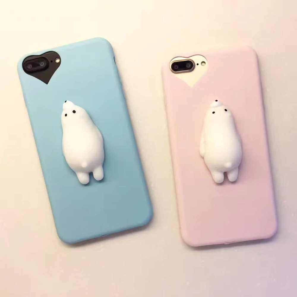 Squishy 3d cat phone case - For Iphone 6 Case 6s 7plus Lovely 3d Silicon Squishy Rising Cat Sea Lion Phone Case