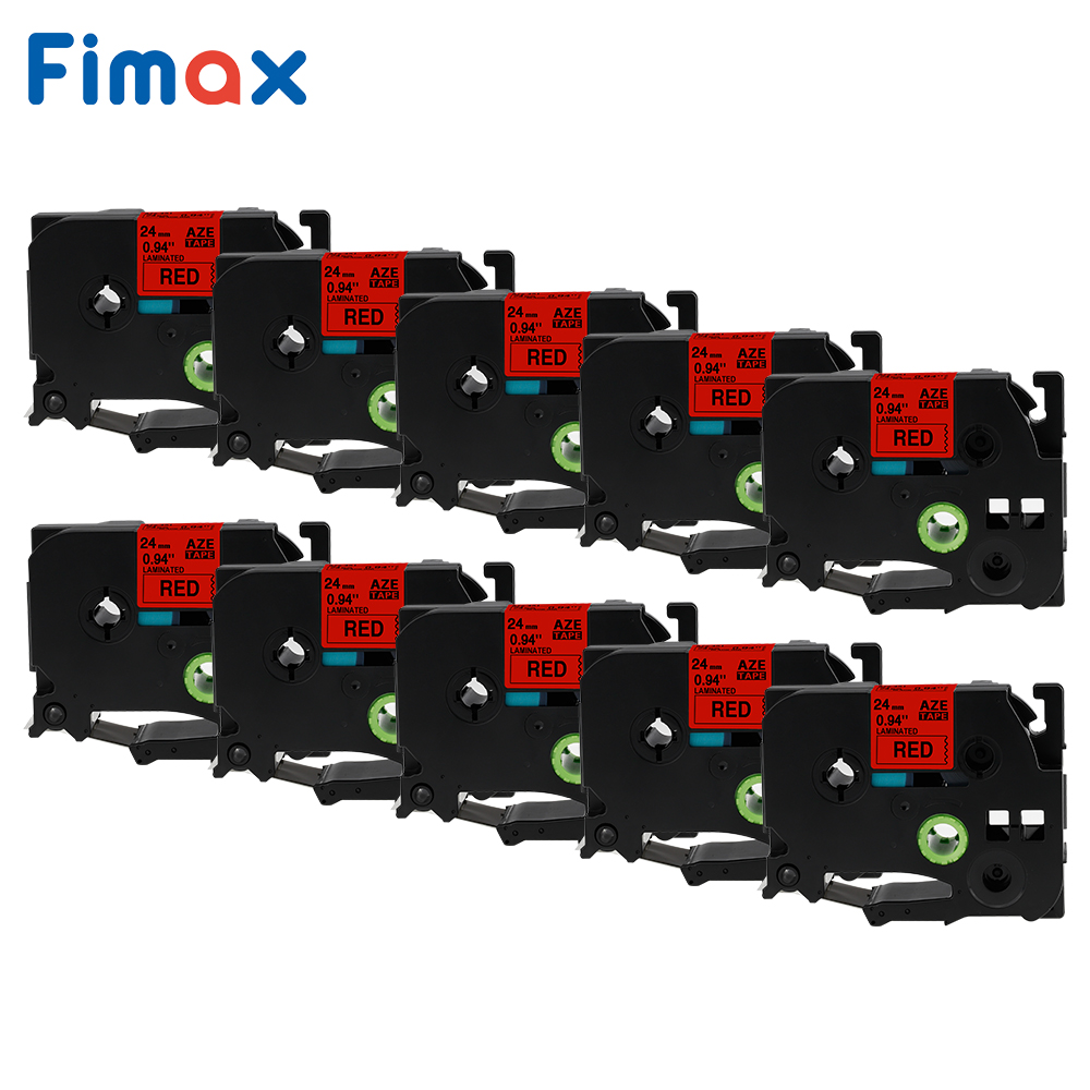 Fimax 10 Packs TZe451 Compatible for Brother P touch Label Tape TZe 451 TZ 451 24mm Black on Red for Brother P touch Tze Label|Printer Ribbons| |  - title=