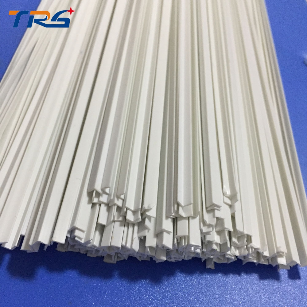 Scale  ABS Smooth  L-shape ,special Shape Dia 4.0*4.0mm Length 50cm Bar For Architectural Model Layout Making Materials