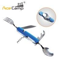AceCamp Compact Couverts Amovible Ensemble Couteau/Cuillère/Fourchette/Bouteille Ouvre Multi Fonction outils Couverts Ensemble Bleu Livraison gratuite 2574
