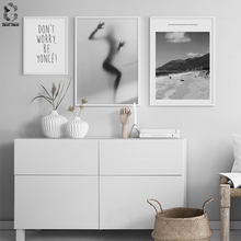 Scandinavian Landscape Canvas Wall Art Motivation Poster Print Quote Minimalist Abstract Painting Nordic Decoration Picture