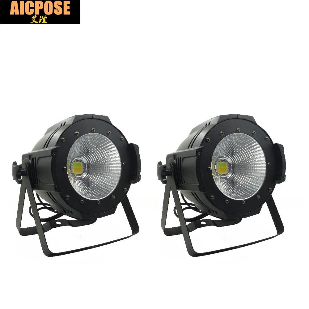 2units LED Par COB Light 100W High Power Aluminium DJ DMX Led Beam Wash Strobe Effect Stage Lighting,Cool White and Warm White