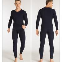 Cotton Long Johns Set 2017 MIBOER Autumn Winter Legging Men Warm Sexy V Neck Long John For Men Long Johns Set Thermal Underwear