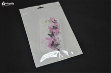 1000pcs/lot 16*24cm White / Clear Self Seal Zipper Plastic Retail Packaging Poly Bag, Ziplock Bag Package With Hang Hole