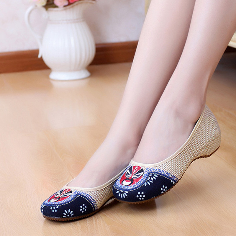 Femmes Shopping On D'animaux Slip Chaussures Danse Printemps Automne Mode Conduite Empreintes Tissu Ronde Casual Femme Beige Plat Toe rxq1rHPw